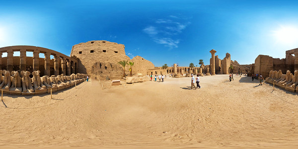 Karnak great court sphinxes