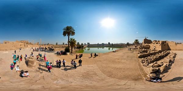 Karnak scarab and lake_