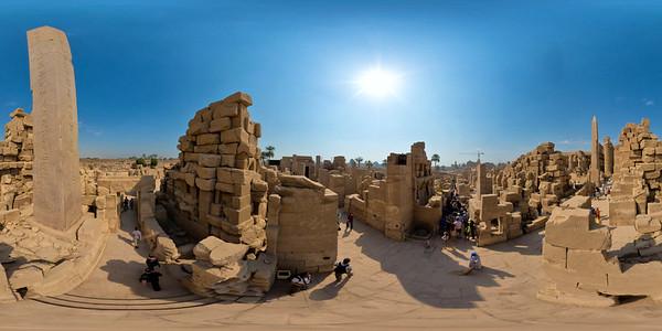 Karnak Obelisque of Tuthmosis aerial