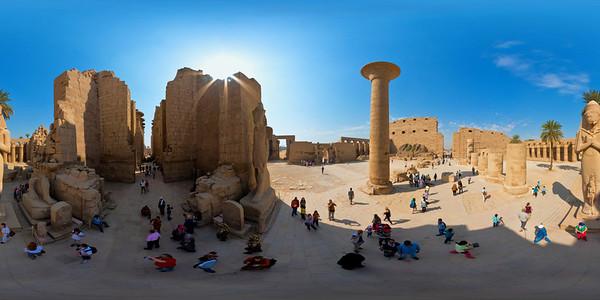 Karnak great forecourt aerial