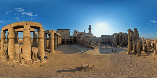 Court and Abu el-Haggag mosque