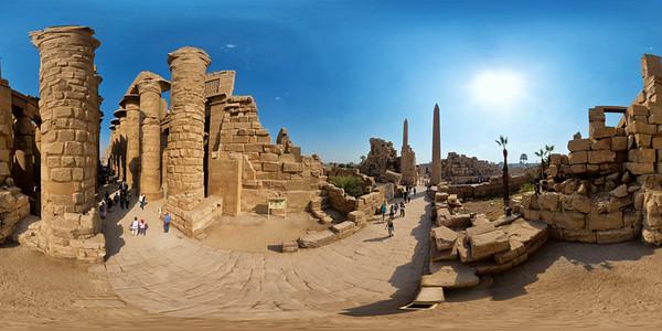 Karnak third pylon courtyard