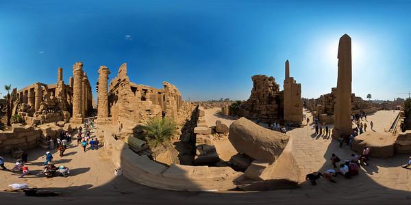 Karnak obelisk of Tuthmosis aerial