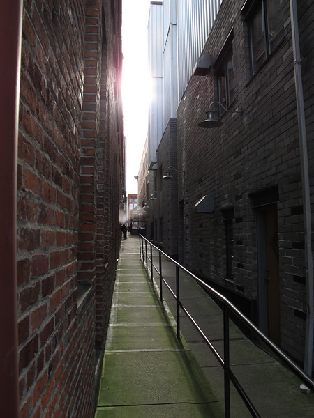 Steamy alley.<br /> <br /> Victoria, BC.