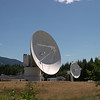 Satellite dishes at the Tata Communications earth station.<br /> <br /> Lake Cowichan, BC.