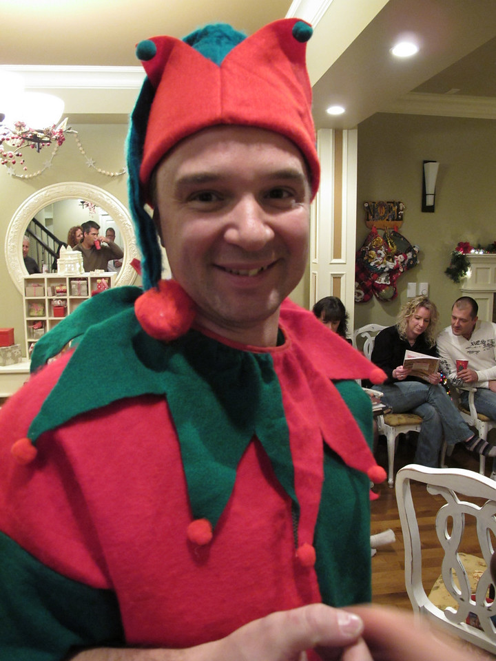 Steve the Dorky Elf.<br /> <br /> (At my Christmas party.)<br /> <br /> Victoria, BC.