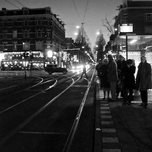 342   waiting for a tram