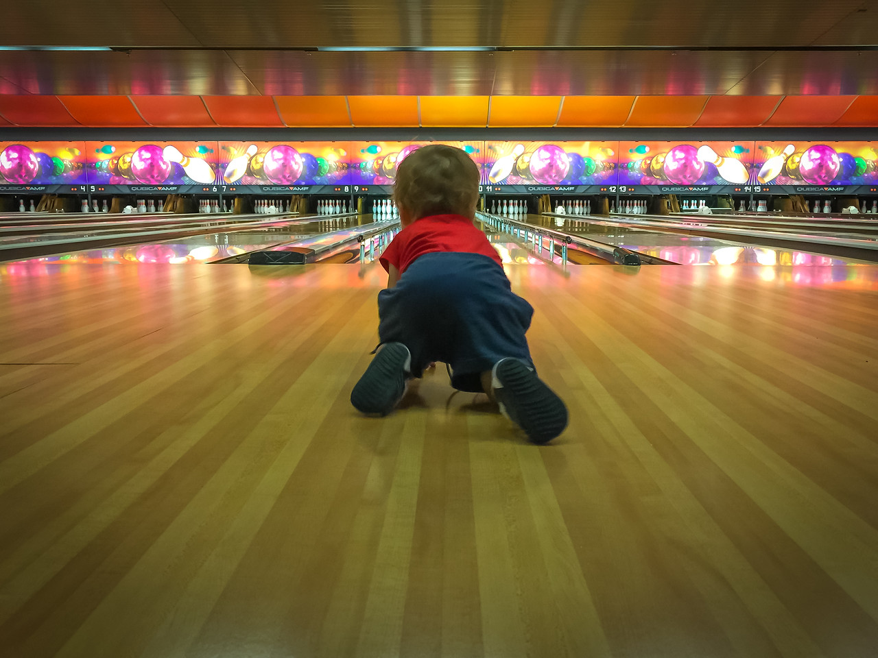 Bowling in Okinawa - August 17