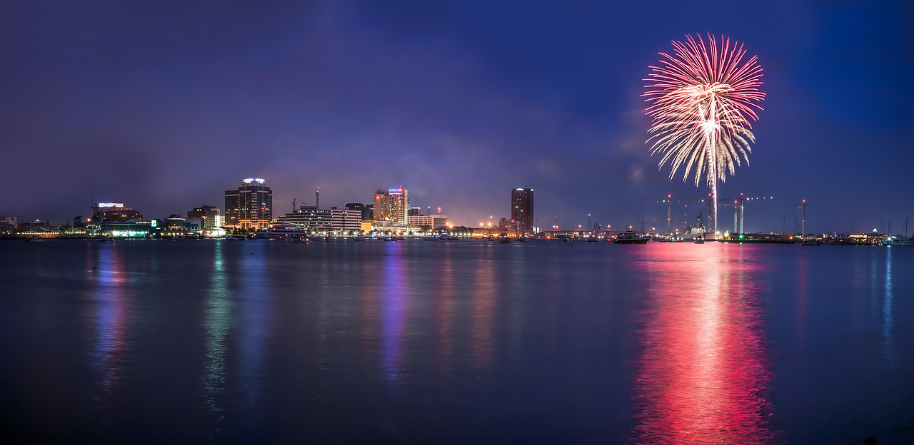 Fireworks in Norfolk VA - July 4