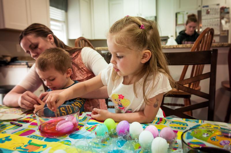 Decorating Easter Eggs - April 3