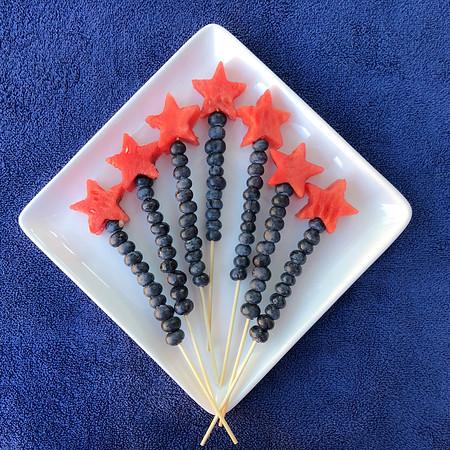 Firework fruit kabob