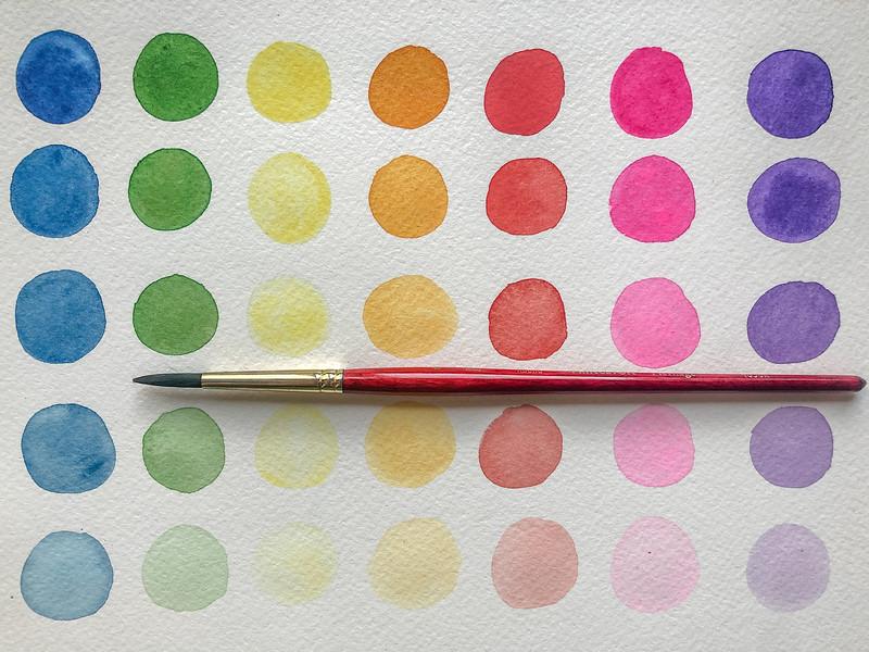 Warm-up rainbow circles