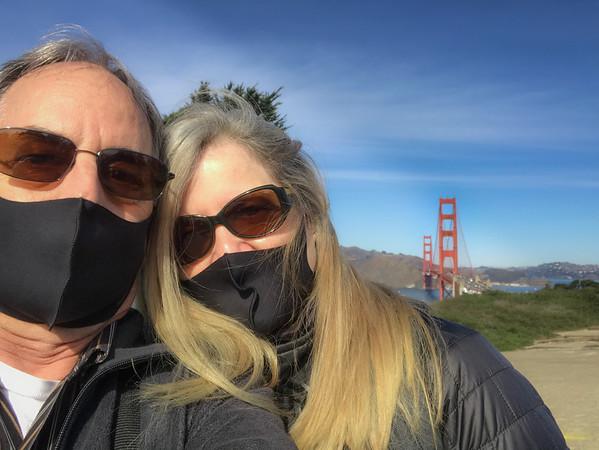 Golden Gate Overlook selfie