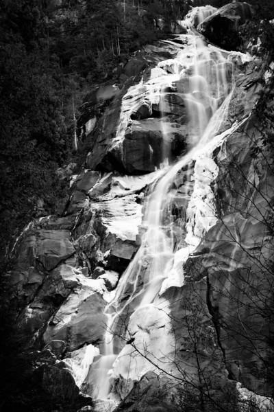 Shannon Falls with ice - Squamish winter scene
