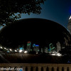 """Day 8 - Anyone visiting Chicago surely recognizes the """"Bean"""" called so as it is shaped as a jelly bean and located in Millennium Park. With a mirror like finish, it attracts people from all over. It's actual name is """"Cloud Gate"""". Went to Chicago with fellow photographer and friend Merrill Mack."""