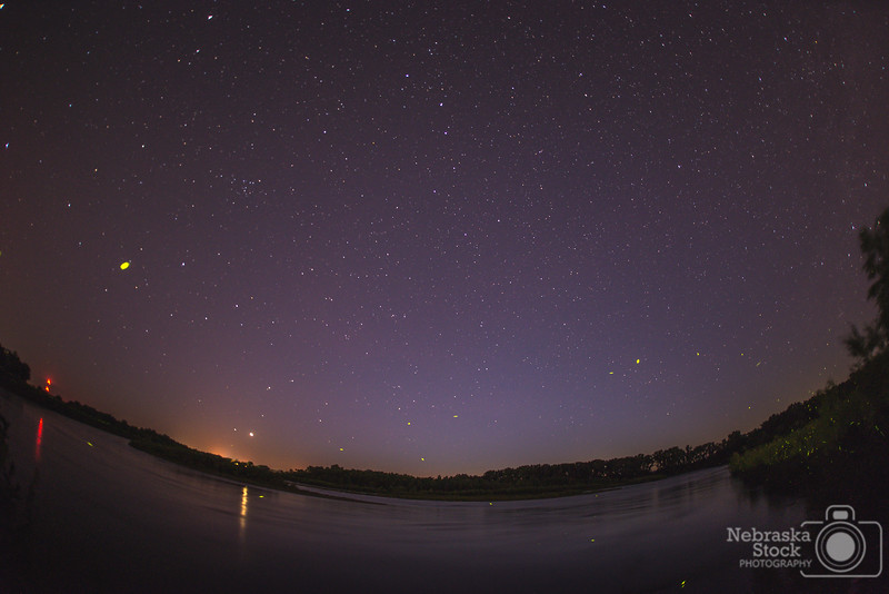7-7-2018<br /> 188/365<br /> The stars over the Elkhorn River in Madison County. <br /> Photo taken with a D500 with a Sigma 15mm Fisheye<br /> ISO 800<br /> 30 seconds at F2.8<br /> (113843)