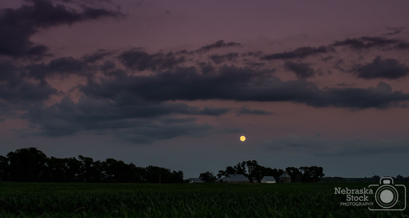 6-27-2018<br /> 178/365<br /> A full moon raises above a farmstead in Madison County on Wednesday night. <br /> Photo taken with a Nikon D500 with a Nikon 28-70<br /> ISO 220<br /> 1/125th at F4<br /> (109995)