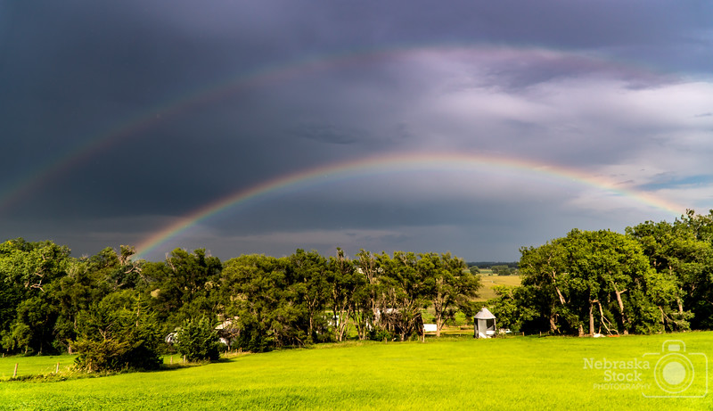 7-30-2018<br /> 211/365<br /> A double rainbow ahead of a little thunderstorm Monday night in northern Madison County. <br /> Photo taken with a Sony A6300 with a Sony 18-105<br /> ISO 100<br /> 1/1500th at F4<br /> (135137)