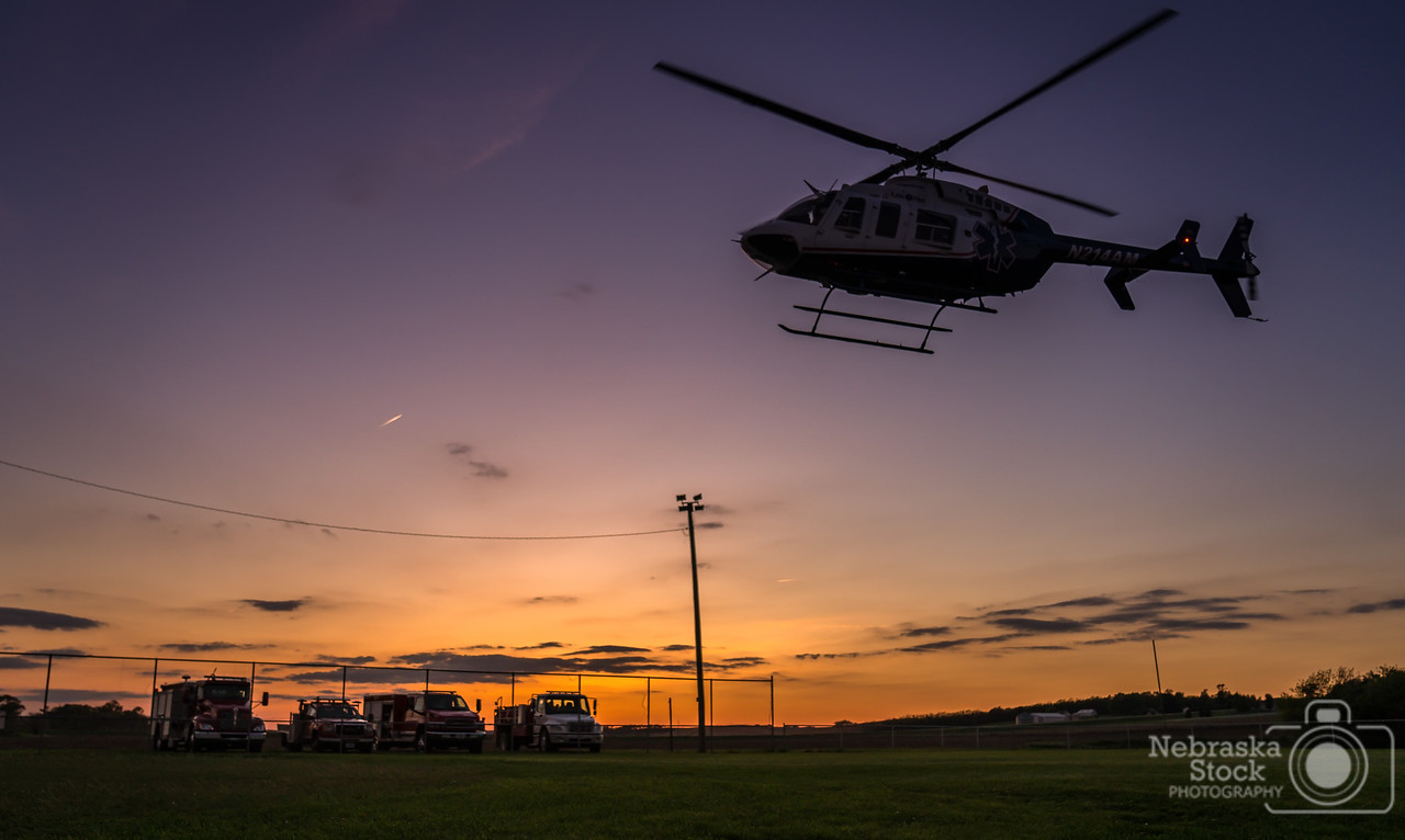 5-21-2018<br /> 141/365<br /> LifeNet Medical Helicopter takes off from the Carroll baseball field Monday night after working with the Carroll Fire and Rescue on training with the medical helicopter. <br /> Photo taken with a Sony A7rIII with a Sony FE 24-105<br /> ISO 1000<br /> 1/1000th at F4<br /> (96850)