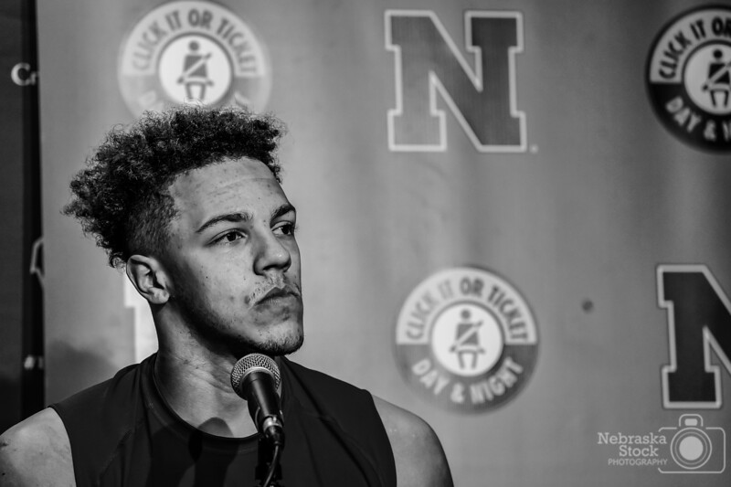 10-6-2018<br /> 279/365<br /> Nebraska's quarterback, Adrian Martinez takes questions from the press Saturday night after the Cornhuskers lose to Wisconsin. Hats off to this kid for taking some pretty serious questions and handling them like a pro only at the age of 18. <br /> Photo taken with a Sony A9 with a Sony FE 100-400<br /> ISO 2500<br /> 1/400th at F5.6<br /> (175713)