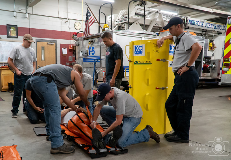 9-4-2018<br /> 247/365<br /> Playing and learning with new equipment for a firefighter/EMS is like a child waking up on Christmas morning. Norfolk Fire Reserves learn how to work with a new piece of equipment Tuesday night. <br /> Photo taken with a Sony A6300 with a Sony 18-105<br /> ISO 3200<br /> 1/125th at F4<br /> (147670)