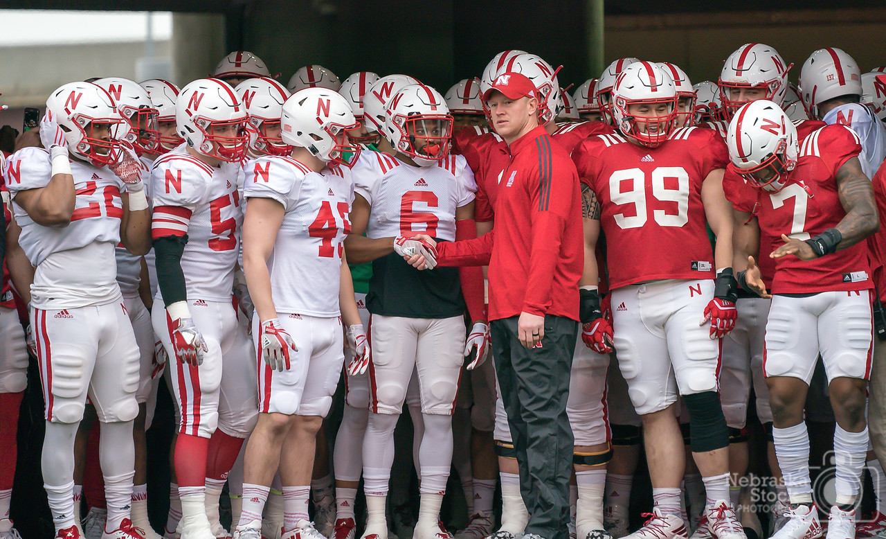 4-21-2018<br /> 111/365<br /> Nebraska's Head Coach Scott Frost gets ready to take the field with his Huskers fore the Red White game Saturday in front of 86 thousand fans. Husker Nation is Alive!! GO BIG RED!!<br /> Photo taken with a Sony A9 with a Sony FE 100-400<br /> ISO 1250<br /> 1/1000th at F5.6<br /> (63235)
