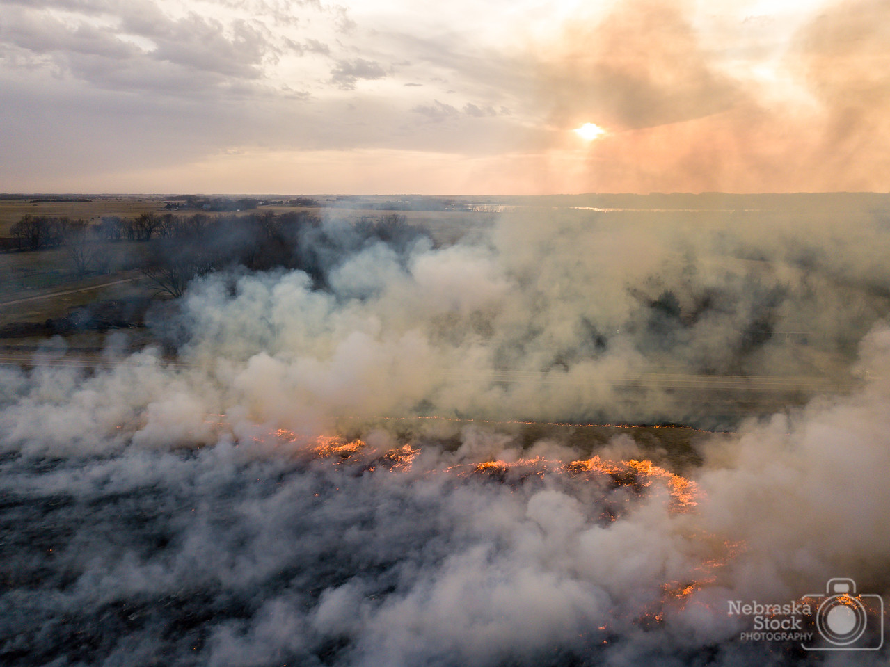 4-11-2018<br /> 101/365<br /> A controlled burn from 500 feet... Wednesday night, Pierce Fire assisted Game and Parks on a couple of burns in Pierce County while the weather was nice. This was the second burn of the night right south of Willow Lake. <br /> Photo taken with a DJI Mavic Pro <br /> ISO 400<br /> 1/400th at F22<br /> (56103)