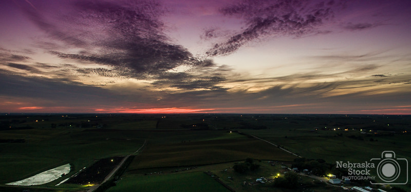 9-6-2018<br /> <br /> 249/365<br /> <br /> Beautiful sunset through the clouds over northwest Madison County. <br /> <br /> Photo taken with a DJI Inspire 1 <br /> <br /> ISO 100<br /> <br /> 1 seconds at F2.8<br /> <br /> (148053)