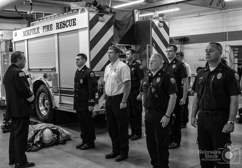 8-6-2018<br /> 218/365<br /> The promotion of a new Lieutenant at Norfolk Fire and Rescue. <br /> Photo taken with a Nikon D500 with a Nikon 28-70<br /> ISO 1400<br /> 1/200th at F4<br /> (137265)
