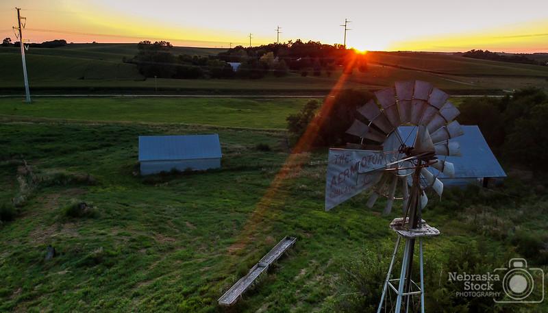 7-31-2018<br /> 212/365<br /> A Northeast Nebraska Sunset<br /> Photo taken with a DJI Spark<br /> ISO 200<br /> 1/200th at F2.6<br /> (135294)