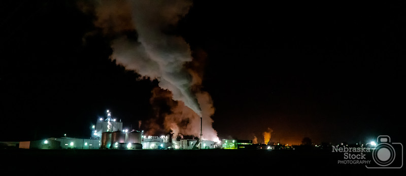 11-07-2018<br /> <br /> 311/365<br /> <br /> You can tell its getting colder out at night just looking at the steam exhaust from the ethanol plant north of town.<br /> <br /> Photo taken with a Sony A6300 with a Sony 18-105<br /> <br /> ISO 8000<br /> <br /> 1/20th at F4<br /> <br /> (199879)