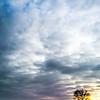 sunset, january