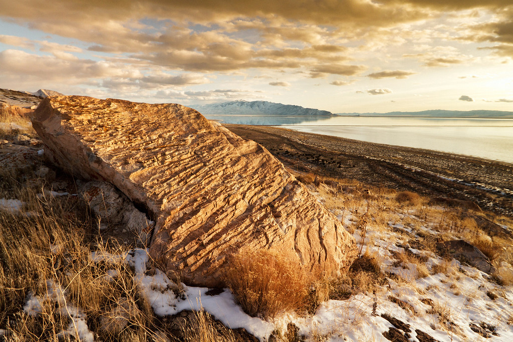 62 of my 365 project;  Stansbury island - beach overlook
