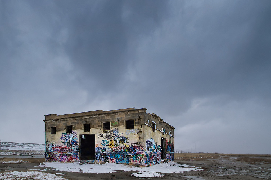"""61 of my 365 project, the storm hitting the """"Temple of the Birds"""""""