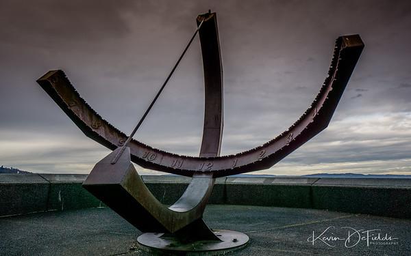 WMXQB Waymark Ruston Way Sundial - Tacoma, Washington