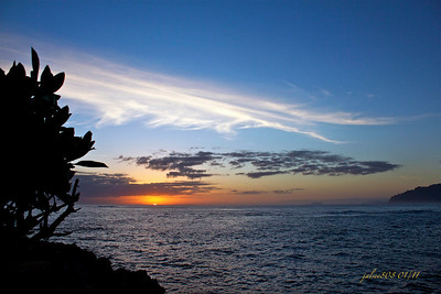 Day 9 of 365 - Laie Point Sunrise - January 9, 2011