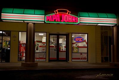 Papa John's Pizza, Kailua, O'ahu, Hawai'i - Day 91 of 365, April 1, 2011