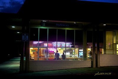 Subway Restaurant, Koolau Shopping Center, Kane'ohe, O'ahu, Hawai'i - Day 112 of 365, April 22, 2011