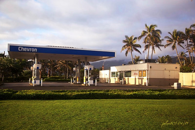 Chevron Station, Laie, O'ahu, Hawai'i - Day 107 of 365, April 17, 2011