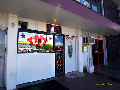 TNT Tattoo Parlor, next to Dixie Grill, Aiea, O'ahu, Hawai'i - Day 71 of 365, March 12, 2011