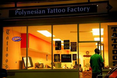 Polynesian Tattoo Factory, Ko'olau Shopping Center, Temple Valley, Kane'ohe, O'ahu, Hawai'i - Day 125 of 365, May 5, 2011