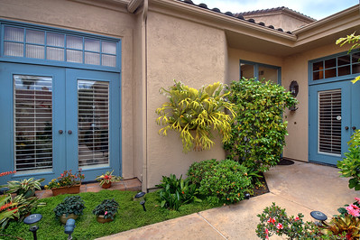 LUSH ENTRY COURTYARD