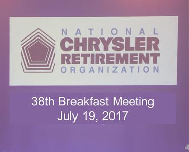 38th Breakfast Meeting - July 19, 2017