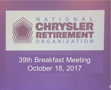 39th Breakfast Meeting October 18, 2017