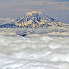 Mt Adams...looked like a reflection of Mt Rainier.<br>My Epic Hikes Photo Album-2016.<br>https://connect.garmin.com/modern/activity/1238784268<br>Hard core 9-mile/4700' elevation gain hike through snow fields to the 10,000-foot level of Mount Rainier-Camp Muir round-2.<br>Next time I hike - it's scheduled to be the real deal. Past Camp Muir (halfway point) and all the way to the summit of Mount Rainier, beyond 14,000-feet. I can only hope the weather will be as spectacular as these Muir hikes.<br>The last 3 weekends have included 2 round-trip hikes to Rainier/Camp Muir and a 28-mile wilderness hike with mountain pack. In between- a return to running, disciplined yoga and intense strength training. I'm physically and mentally prepared to summit Rainier. My self-confidence is where I need it to be. I've done my part. Trained with/learned from experienced climbers, invested in the right gear. Now the mountain has to come to me…acceptable weather, climbing team chemistry, etc. I've done everything within my power to increase the odds from the as advertised, only 50% success rate for climbers attempting to summit Rainier. It's GO time!<br><br>WA-rainier_muir02jul2016I8255