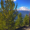 Crystal Peak Hike WA-10sep2016<br>https://connect.garmin.com/modern/activity/1352089044<br>Great PACNW Hike #22. 10-miles/6-hours/3750' elevation gain of wonderland beauty hiking to Crystal Peak in the Mt Rainier—NE Sunrise/White River area. Picture perfect weather - from the CP summit, it's possible to see six mountain/volcanoes spanning two states. Baker, Glacier, Adams, Rainier, St. Helens and Hood. Quite a bit of elevation using switchbacks. At the top Bill and I met Rob M, enjoying a birthday hike. From there it got interesting as the three of us decided to rely on sketch directions to see if we could navigate down to Crystal Lake - via the unorthodox, south along the ridge towards Sourdough Gap. I wouldn't call it a mistake, as much as it was a learning experience and challenge to our off trail, through rough brush hiking and tracking skills. At the end of every hike, it's always 'all good' and Crystal Peak was no exception. Good exercise, good camaraderie and great appreciation of the amazing wilderness we are fortunate to have in our backyard.<br><br>WA-crystal_peak_hike-10sep2016i9402 -boondog