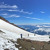 My Epic Hikes Photo Album-2016.<br>https://connect.garmin.com/modern/activity/1238784268<br>Hard core 9-mile/4700' elevation gain hike through snow fields to the 10,000-foot level of Mount Rainier-Camp Muir round-2.<br>Next time I hike - it's scheduled to be the real deal. Past Camp Muir (halfway point) and all the way to the summit of Mount Rainier, beyond 14,000-feet. I can only hope the weather will be as spectacular as these Muir hikes.<br>The last 3 weekends have included 2 round-trip hikes to Rainier/Camp Muir and a 28-mile wilderness hike with mountain pack. In between- a return to running, disciplined yoga and intense strength training. I'm physically and mentally prepared to summit Rainier. My self-confidence is where I need it to be. I've done my part. Trained with/learned from experienced climbers, invested in the right gear. Now the mountain has to come to me…acceptable weather, climbing team chemistry, etc. I've done everything within my power to increase the odds from the as advertised, only 50% success rate for climbers attempting to summit Rainier. It's GO time!<br><br>WA-rainier_muir02jul2016i7265