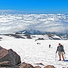 My Epic Hikes Photo Album-2016.<br>https://connect.garmin.com/modern/activity/1238784268<br>Hard core 9-mile/4700' elevation gain hike through snow fields to the 10,000-foot level of Mount Rainier-Camp Muir round-2.<br>Next time I hike - it's scheduled to be the real deal. Past Camp Muir (halfway point) and all the way to the summit of Mount Rainier, beyond 14,000-feet. I can only hope the weather will be as spectacular as these Muir hikes.<br>The last 3 weekends have included 2 round-trip hikes to Rainier/Camp Muir and a 28-mile wilderness hike with mountain pack. In between- a return to running, disciplined yoga and intense strength training. I'm physically and mentally prepared to summit Rainier. My self-confidence is where I need it to be. I've done my part. Trained with/learned from experienced climbers, invested in the right gear. Now the mountain has to come to me…acceptable weather, climbing team chemistry, etc. I've done everything within my power to increase the odds from the as advertised, only 50% success rate for climbers attempting to summit Rainier. It's GO time!<br>Mt Adams, Mt St Helens.<br><br>WA-rainier_muir02jul2016I8244 -boondog