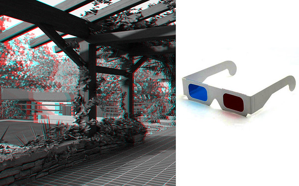 3D Anaglyph Renderings and Animation