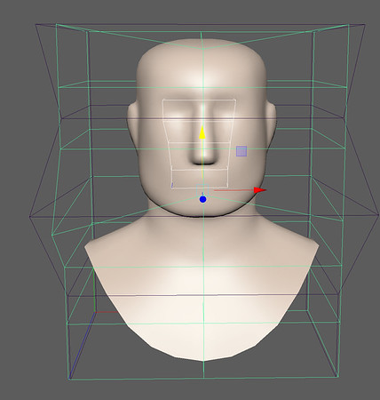 4-5 Squaring Jaw and nose with two deformers